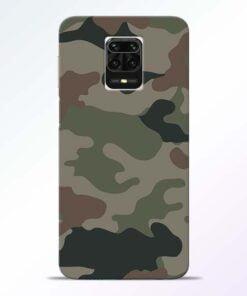 Army Camouflage Redmi Note 9 Pro Max Mobile Cover