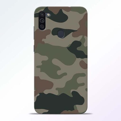 Army Camouflage Samsung M11 Mobile Cover - CoversGap