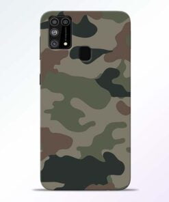 Army Camouflage Samsung M31 Mobile Cover