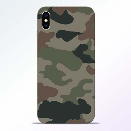 Army Camouflage iPhone XS Max Mobile Cover
