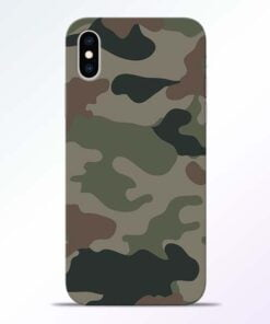 Army Camouflage iPhone XS Mobile Cover