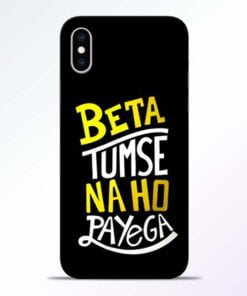Beta Tumse Na iPhone XS Mobile Cover
