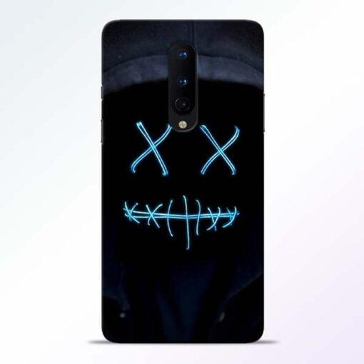 Black Marshmello OnePlus 8 Mobile Cover