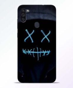 Black Marshmello Samsung M11 Mobile Cover - CoversGap