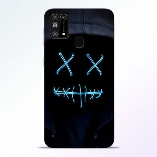 Black Marshmello Samsung M31 Mobile Cover
