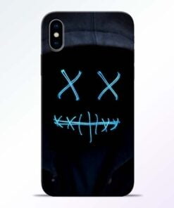 Black Marshmello iPhone X Mobile Cover