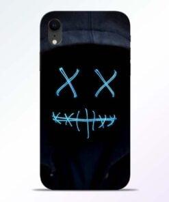 Black Marshmello iPhone XR Mobile Cover
