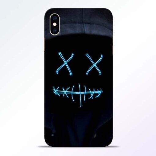 Black Marshmello iPhone XS Max Mobile Cover