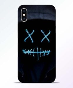 Black Marshmello iPhone XS Mobile Cover