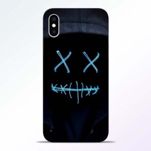 Black Marshmello iPhone XS Mobile Cover