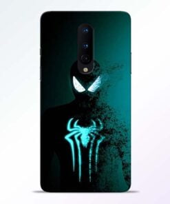 Black Spiderman OnePlus 8 Mobile Cover