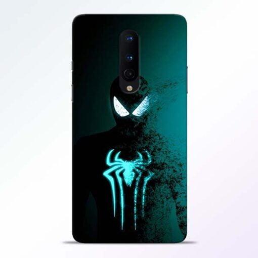Black Spiderman OnePlus 8 Mobile Cover