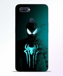 Black Spiderman Oppo A12 Mobile Cover - CoversGap