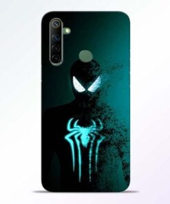 Black Spiderman Realme 6i Mobile Cover - CoversGap