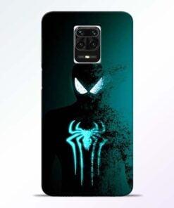 Black Spiderman Redmi Note 9 Pro Max Mobile Cover