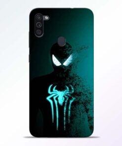 Black Spiderman Samsung M11 Mobile Cover - CoversGap