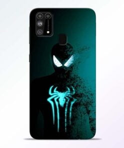 Black Spiderman Samsung M31 Mobile Cover