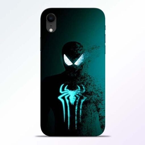 Black Spiderman iPhone XR Mobile Cover