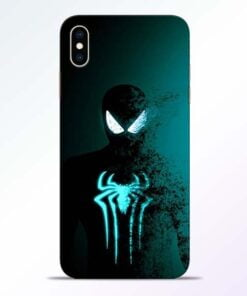 Black Spiderman iPhone XS Max Mobile Cover