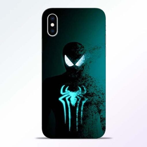 Black Spiderman iPhone XS Mobile Cover