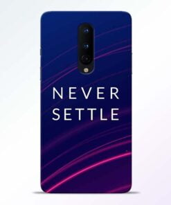 Blue Never Settle OnePlus 8 Mobile Cover