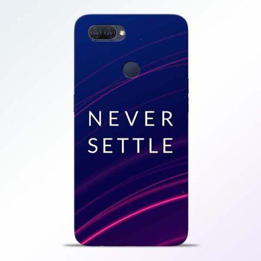 Blue Never Settle Oppo A12 Mobile Cover - CoversGap
