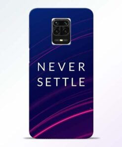 Blue Never Settle Redmi Note 9 Pro Max Mobile Cover