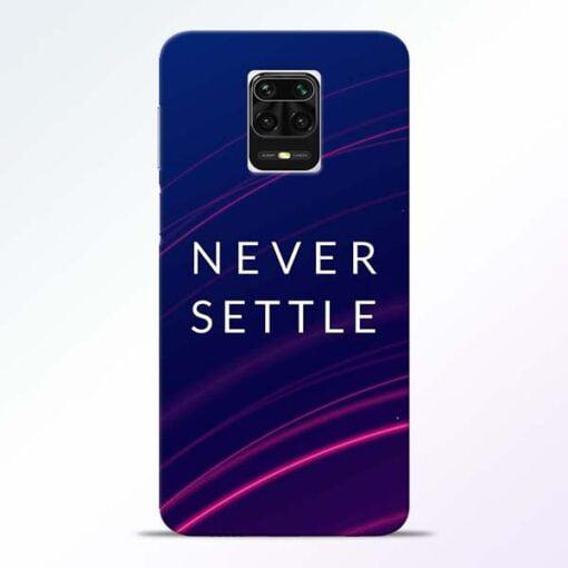 Blue Never Settle Redmi Note 9 Pro Max Mobile Cover