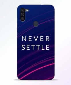 Blue Never Settle Samsung M11 Mobile Cover - CoversGap