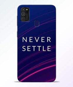 Blue Never Settle Samsung M21 Mobile Cover
