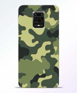 Camouflage Redmi Note 9 Pro Max Mobile Cover