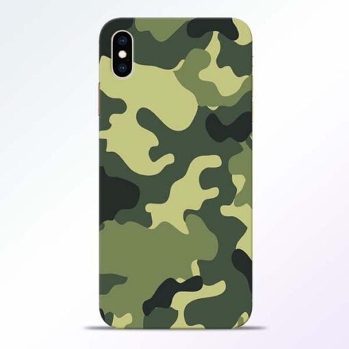 Camouflage iPhone XS Max Mobile Cover
