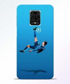 Football Kick Redmi Note 9 Pro Max Mobile Cover