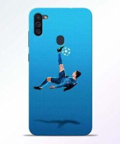 Football Kick Samsung M11 Mobile Cover - CoversGap