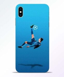 Football Kick iPhone XS Max Mobile Cover