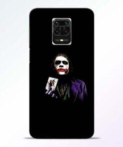 Joker Card Redmi Note 9 Pro Max Mobile Cover