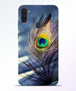 Krishna More Pankh Samsung M11 Mobile Cover - CoversGap