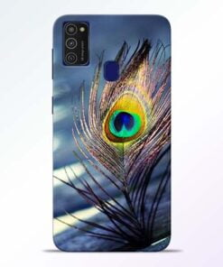 Krishna More Pankh Samsung M21 Mobile Cover