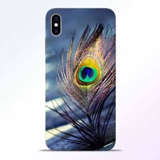 Krishna More Pankh iPhone XS Max Mobile Cover