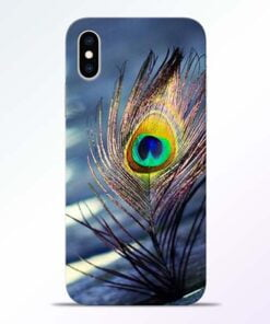 Krishna More Pankh iPhone XS Mobile Cover