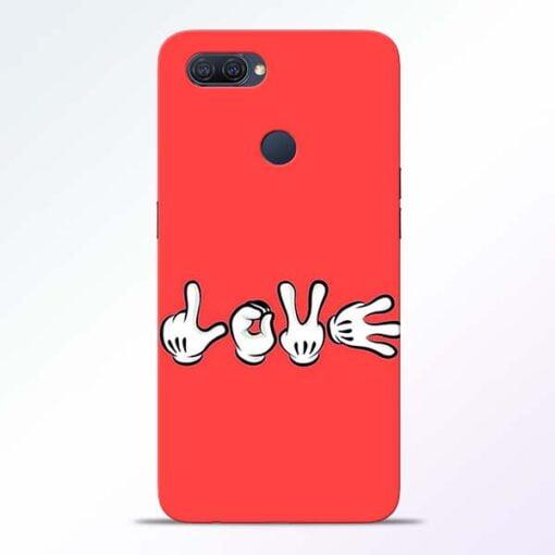 Love Symbol Oppo A12 Mobile Cover - CoversGap