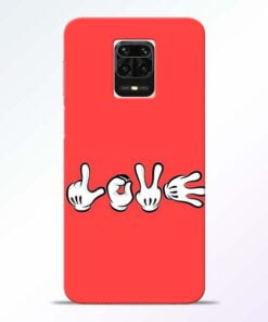 Love Symbol Redmi Note 9 Pro Max Mobile Cover
