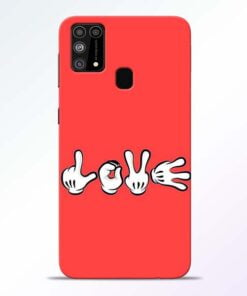 Love Symbol Samsung M31 Mobile Cover