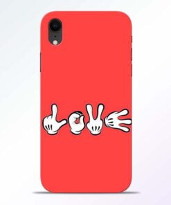 Love Symbol iPhone XR Mobile Cover