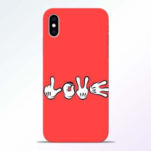 Love Symbol iPhone XS Mobile Cover