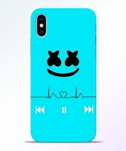Marshmello Song iPhone XS Mobile Cover