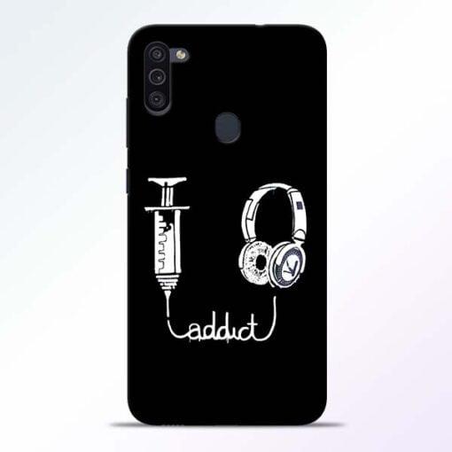 Music Addict Samsung M11 Mobile Cover - CoversGap