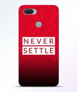 Never Settle Oppo A11K Mobile Cover - CoversGap