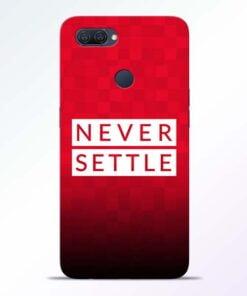 Never Settle Oppo A12 Mobile Cover - CoversGap