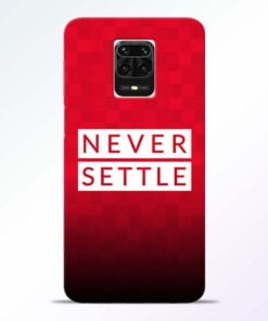 Never Settle Redmi Note 9 Pro Max Mobile Cover